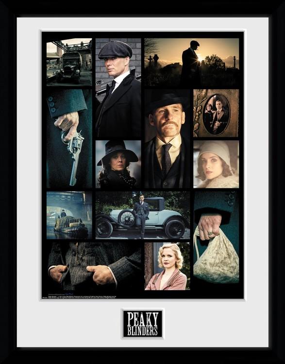 Peaky Blinders - Grid Framed poster