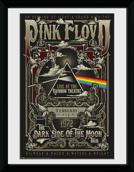 Framed poster Pink Floyd - Rainbow Theatre