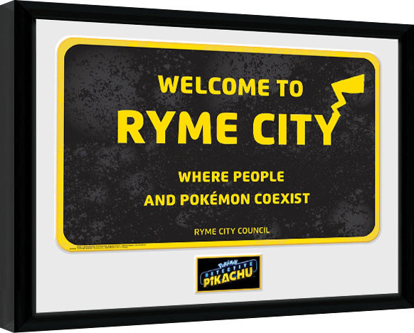 Pokemon: Detective Pikachu - Ryme City Framed poster