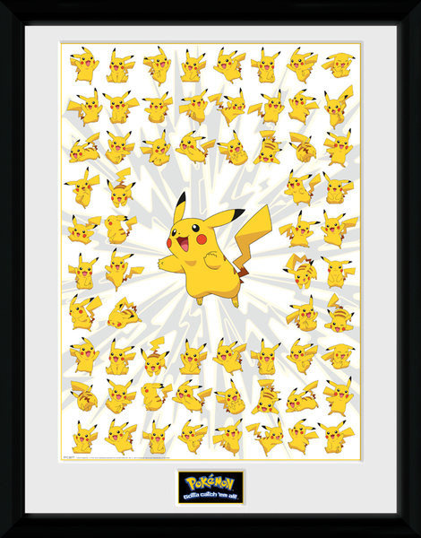 Framed poster Pokemon - Pikachu