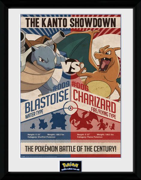 Framed poster Pokemon - Red V Blue