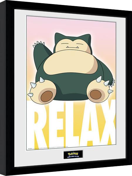 Pokemon - Snorlax Framed poster