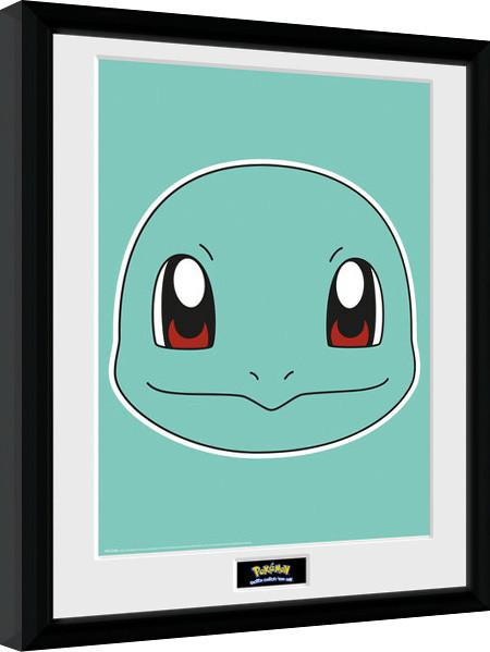 Framed poster Pokemon - Squirtle Face