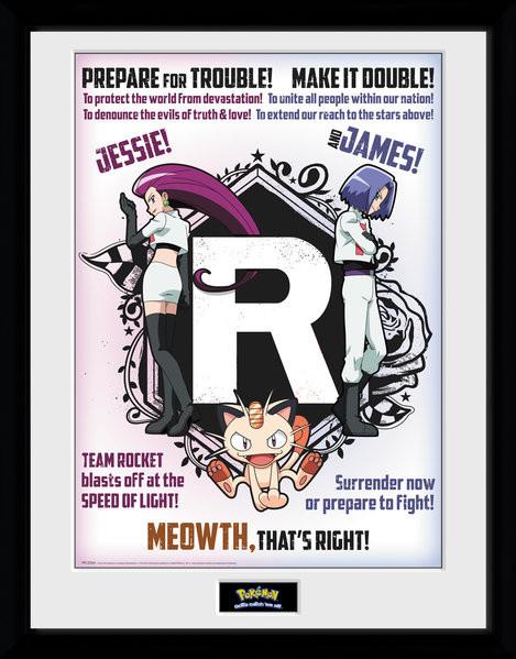 Framed poster Pokemon - Team Rocket