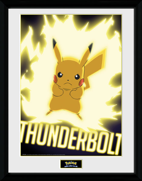 Pokemon - Thunder Bolt Pikachu Framed poster