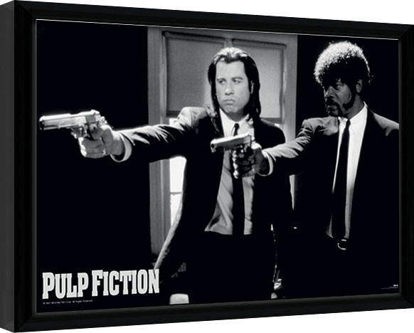 PULP FICTION - guns Framed poster