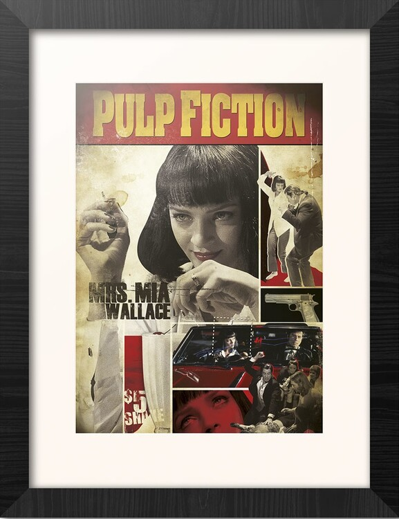 Framed poster Pulp Fiction - Mia