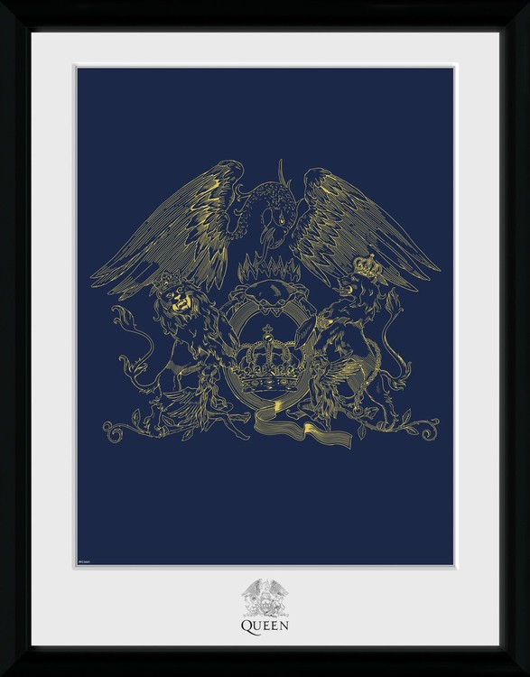 Framed poster Queen - Crest