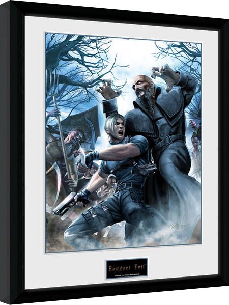 Framed poster Resident Evil - Leon