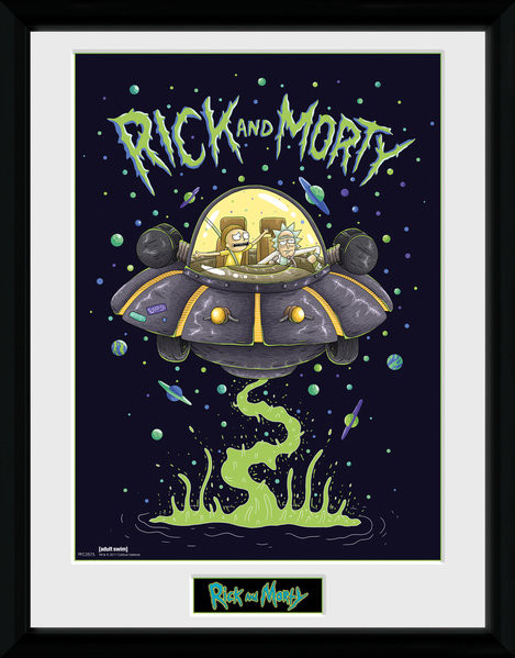 Framed poster Rick and Morty - Ship