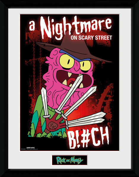 Framed poster Rick & Morty - Scary Terry