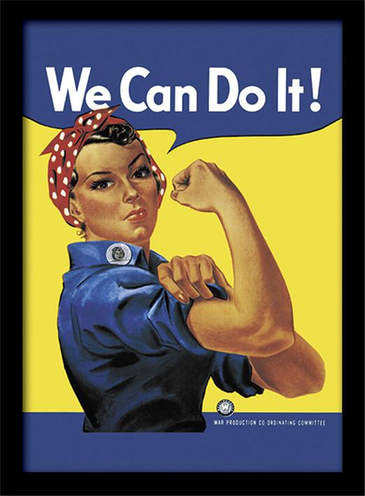 Framed poster Rosie the Riveter