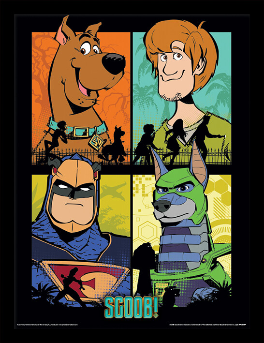 Framed poster Scoob! - The Heroes