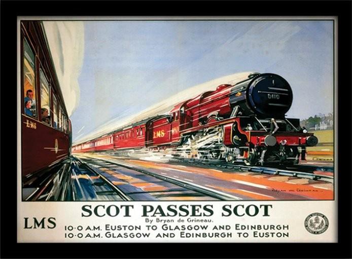 Scot Passes Scot Framed poster