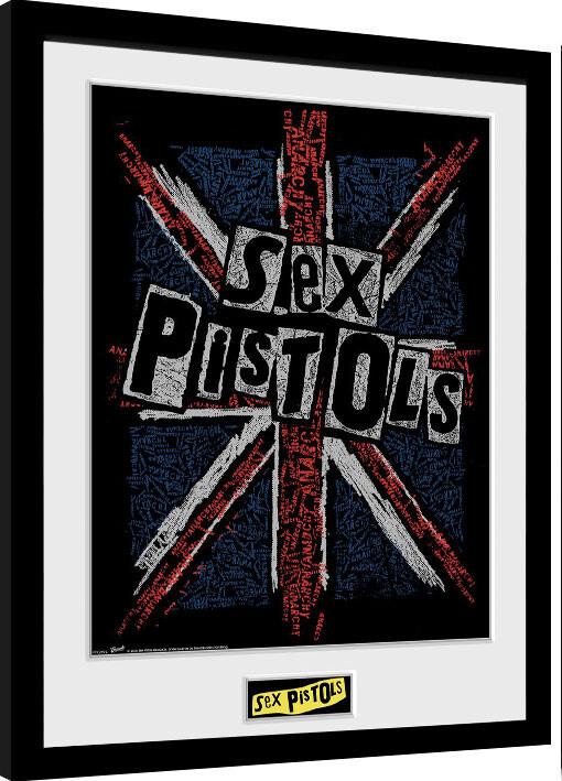 Framed poster Sex Pistols - Flag