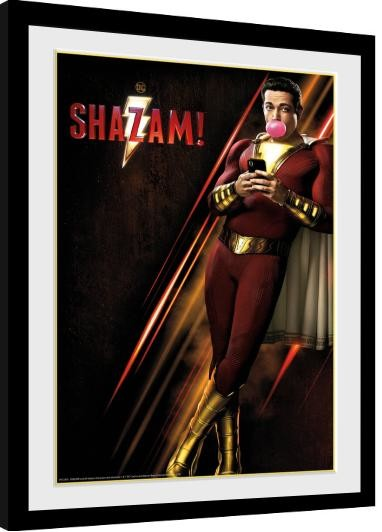 Framed poster Shazam - One Sheet