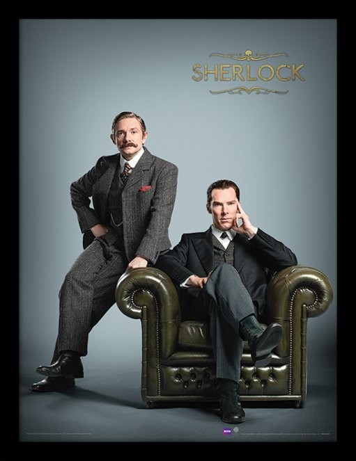 Sherlock - Chair Framed poster