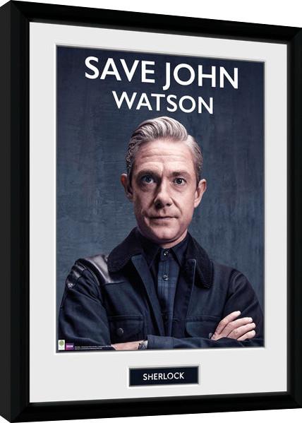 Framed poster Sherlock - Save John Watson