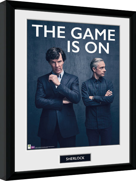 Sherlock - The Game Is On Framed poster