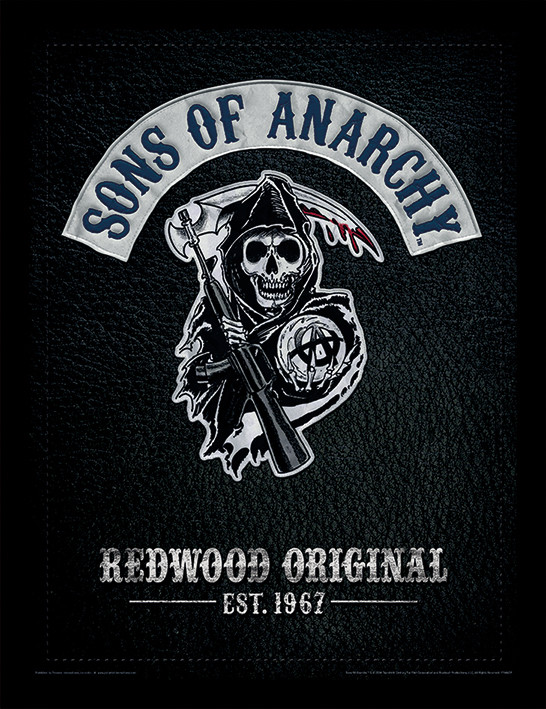 Framed poster Sons of Anarchy - Cut