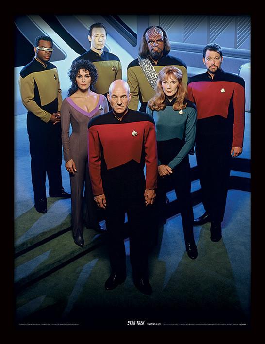 Framed poster Star Trek: The Next Generation - Enterprise Officers