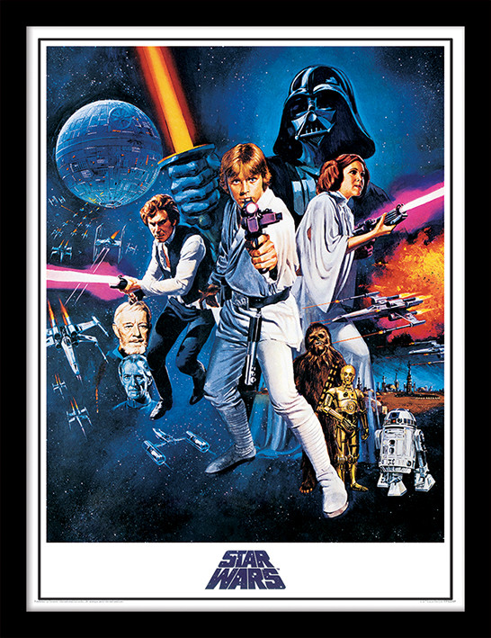 Star Wars: A New Hope - One Sheet Framed poster