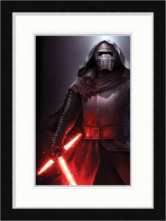 Star Wars Episode VII: The Force Awakens - Kylo Ren Stance Framed poster