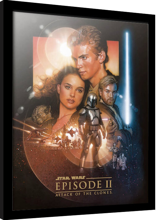 Framed poster Star Wars: Epizode II - Attack Of The Clones