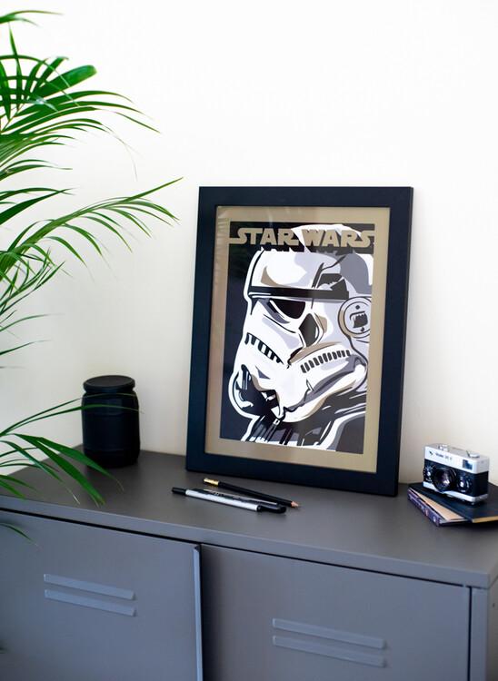 Framed poster Star Wars - Stormtrooper