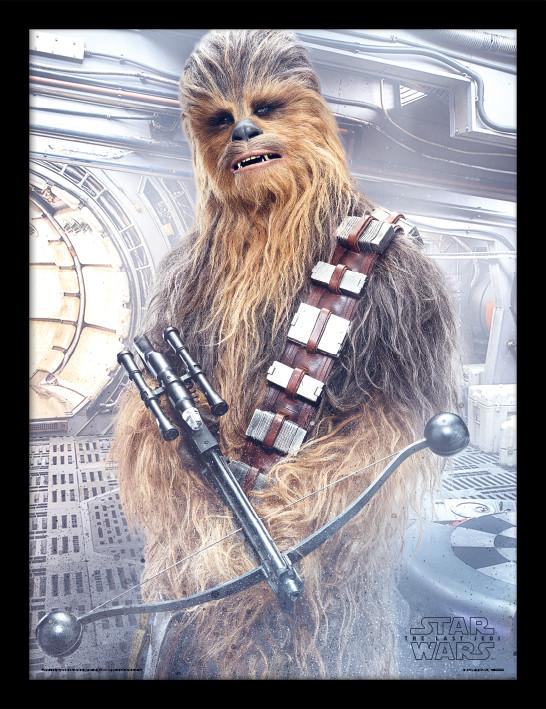 Star Wars The Last Jedi - Chewbacca Bowcaster Framed ...