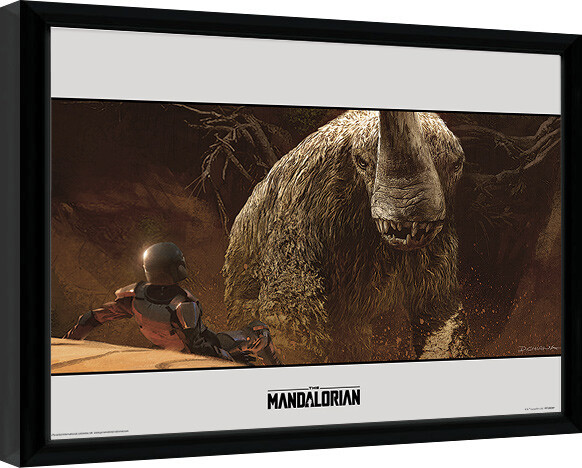 Framed poster Star Wars: The Mandalorian - Rescue