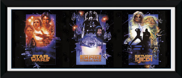 star wars triptych framed poster buy at europosters