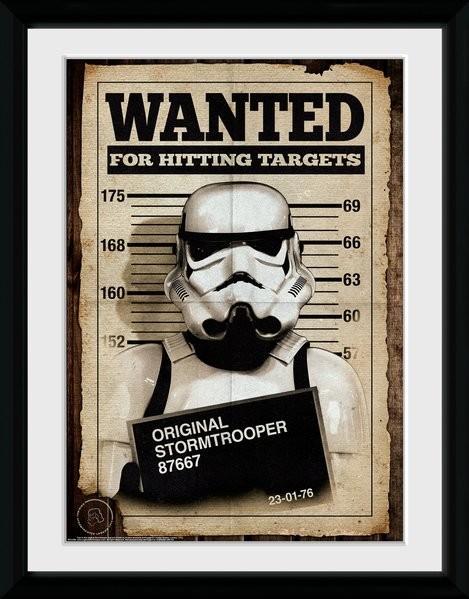 Framed poster Stormtrooper - Mug Shot