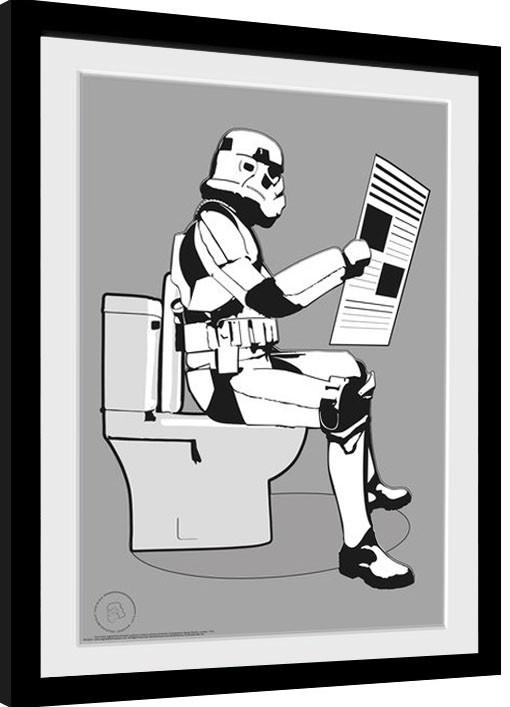 "Stormtrooper 4/"" x 4/"" Star Wars STORM POOPER Sticker"
