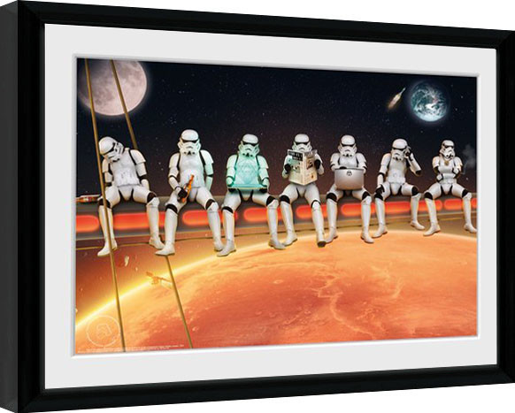Framed poster Stormtrooper - Stormtroopers On A Girder