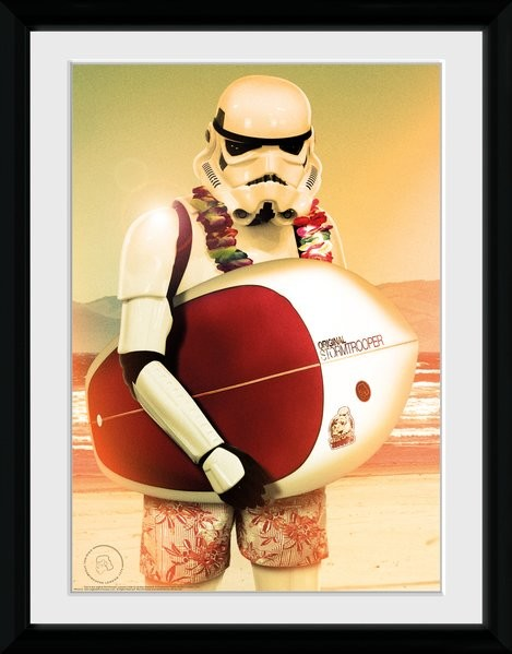 Framed poster Stormtrooper - Surf
