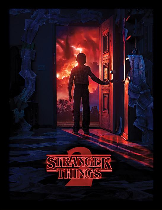 Framed poster Stranger Things - Doorway