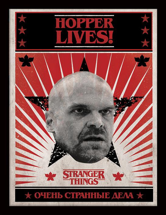 Framed poster Stranger Things - Hopper Lives