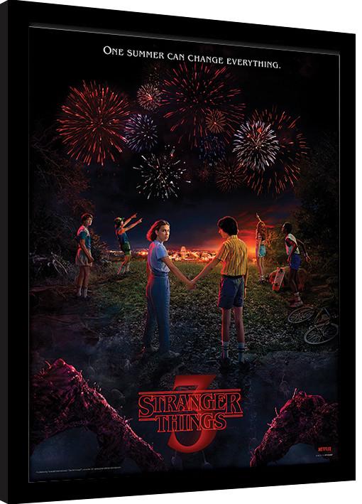Framed poster Stranger Things - One Summer