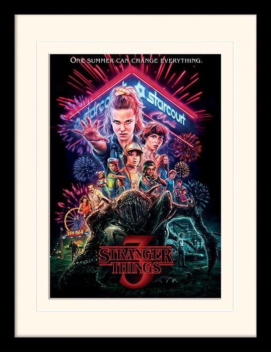 Framed poster Stranger Things - Summer of 85