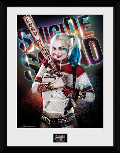 Framed poster Suicide Squad - Harley Quinn Good Night