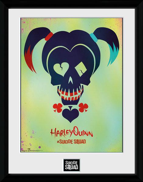 Suicide Squad - Harley Quinn Skull Framed poster