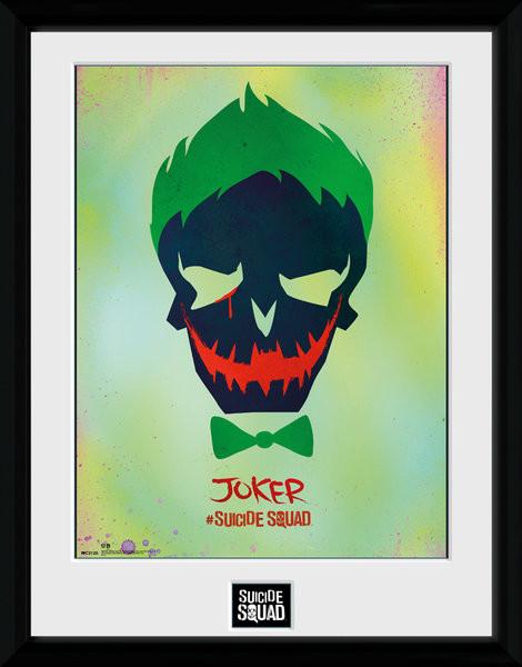 Suicide Squad - Joker Skull Framed poster