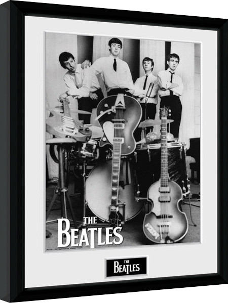 Framed poster The Beatles - Instruments