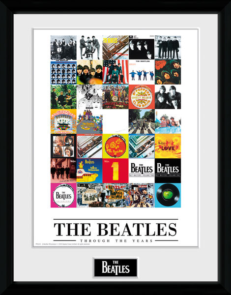 Framed poster The Beatles - Through The Years