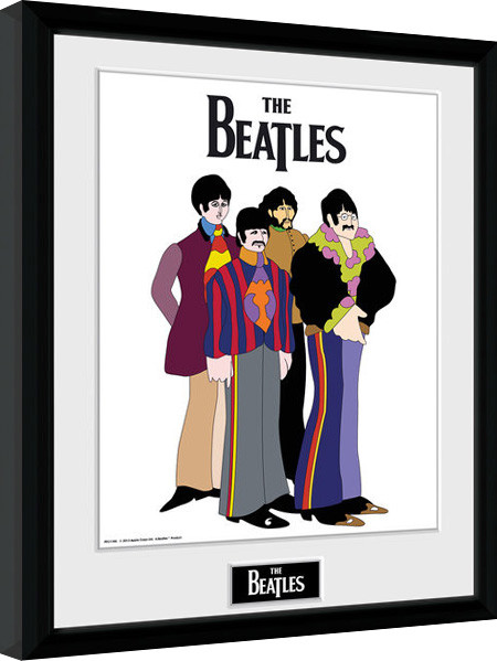 Framed poster The Beatles - Yellow Submarine Group