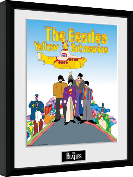 Framed poster The Beatles - Yellow Submarine