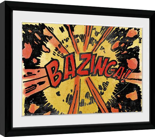 The Big Bang Theory - Bazinga Comic Framed poster
