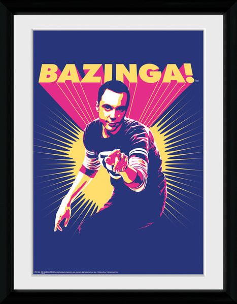 The Big Bang Theory - Bazinga Framed poster