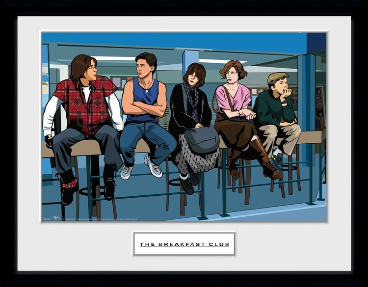 Framed poster The Breakfast Club - Illustration Characters
